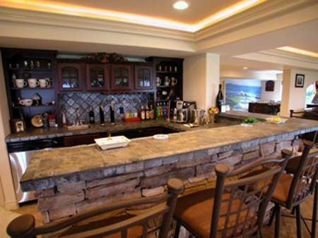 basement bar ideas stone ideas 450 338 home interior ideas pinterest. Black Bedroom Furniture Sets. Home Design Ideas