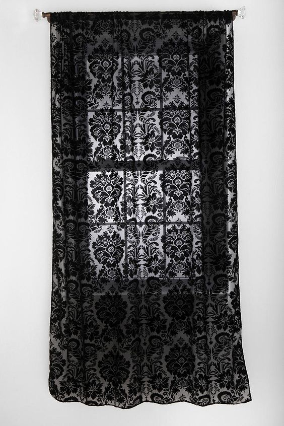 Curtains Ideas black and white damask curtains : Damask curtains. These would look great in our bedroom with our ...
