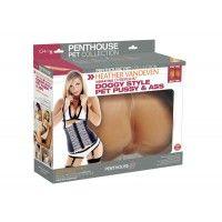Heather Penthouse® VandevenPet Doğrudan Kalıplı Yivli vajinal ve anal girişleri Çok hızlı çıkarılabilir titreşimbullet® Seksipozi