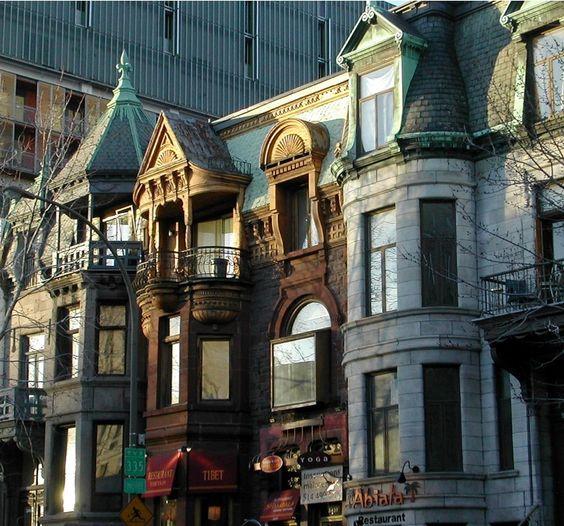 "So pretty. Rue St Denis, Montreal, where Lora Weaver & Camille Caron go shopping in ""The Pas de Deux"" book."