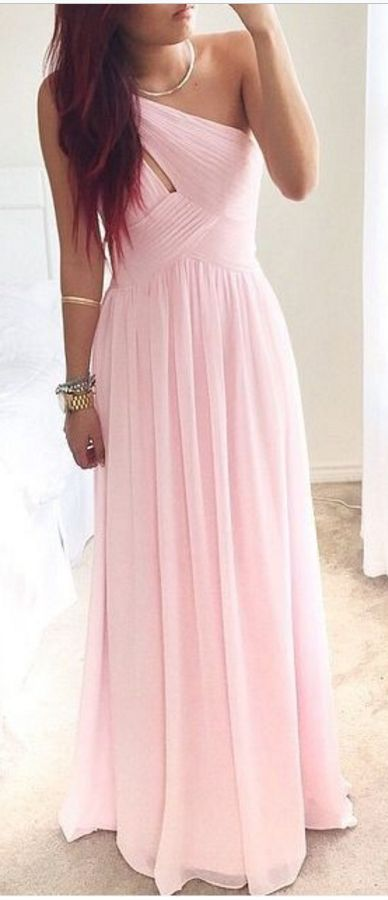 Pretty Pink One-Shoulder Simple Pro