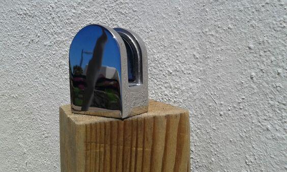 CRISTALERIA VISEGA. Placa fija para cristal laminado cara lisa. Tenerife