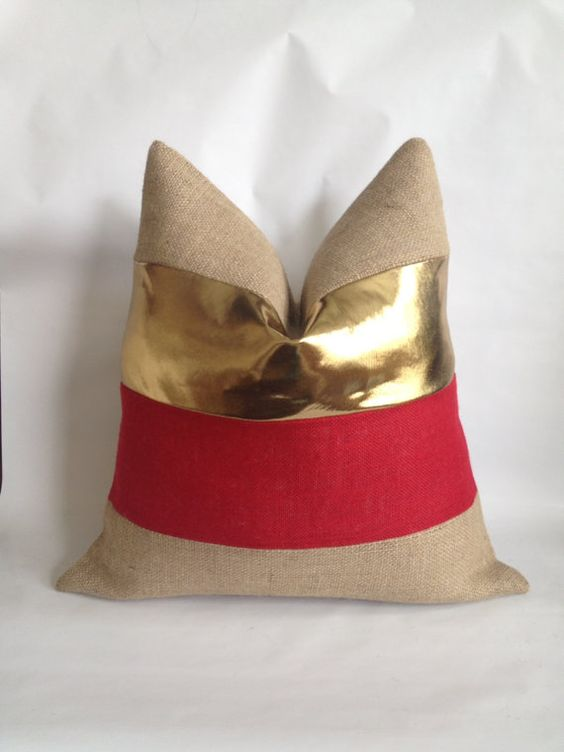 /metallic-gold-fabric-red-burlap-and