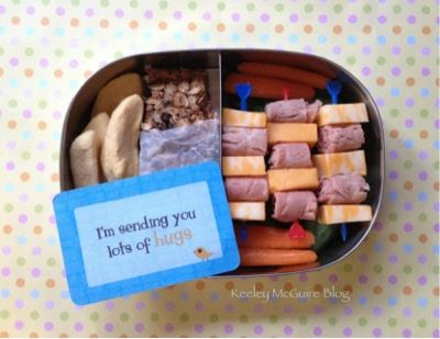 Homemade granola bar and Love! #lunchbox #lunchbox_notes #lunchnotes #lunch (Card from SayPlease.com)