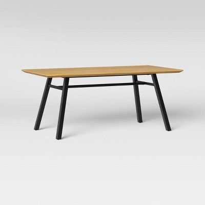 Ellington Metal Base Dining Table Natural Project 62 Brown