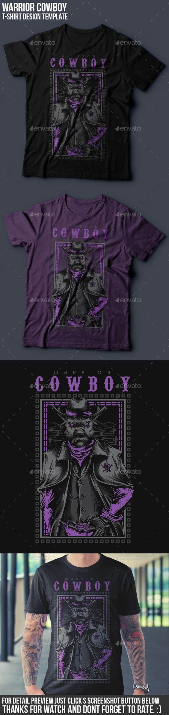 Shirt design resolution - Cowboy Warrior T Shirt Design Grunge Designs