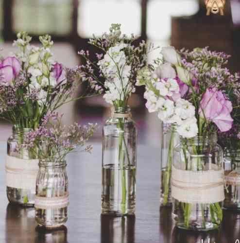 14 Floreros decorados