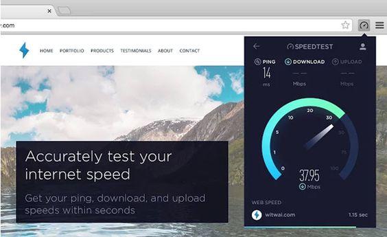 #Internet #conexión #velocidad Una manera simple de medir la velocidad de conexión a internet desde Chrome