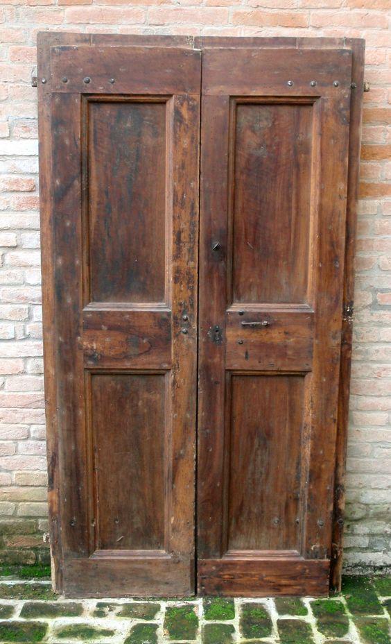 Porte antiche a 2 ante in rovere del 39 700 cm210x110 una for Porte antiche prezzi