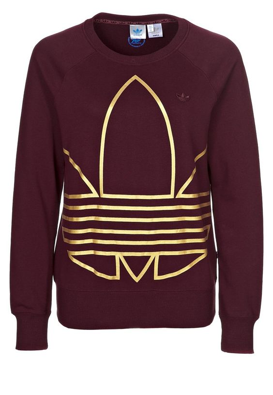 Adidas TREFOIL SWEATER - Sweatshirt - light maroon