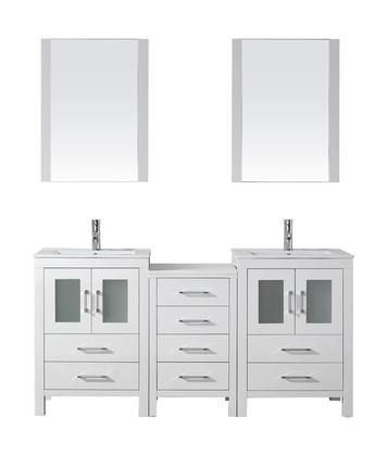 Kd 70066 C Wh 001 Dior 66 Double Bathroom Vanity In White With