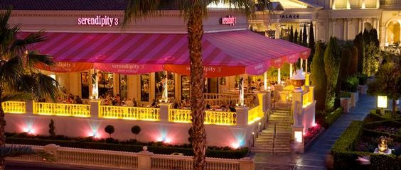 Serendipity 3 - one of New York City's most beloved eateries with more than 50 years of history, offers a one-of-a-kind dining experience, adjacent to the iconic fountains of Caesars Palace and aside the bright lights of the Las Vegas Strip.