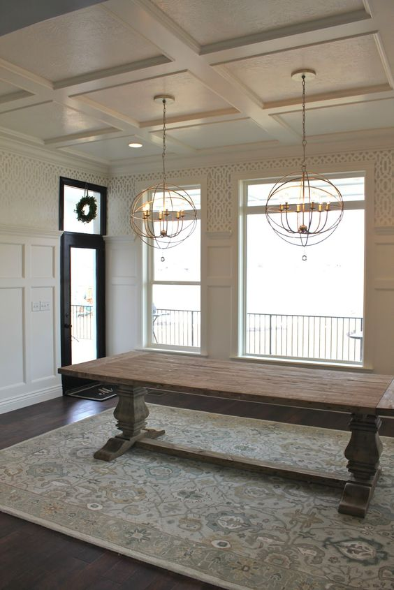 Dining Room Ceiling Lights: Trestle Table, Tables And Ceilings On Pinterest