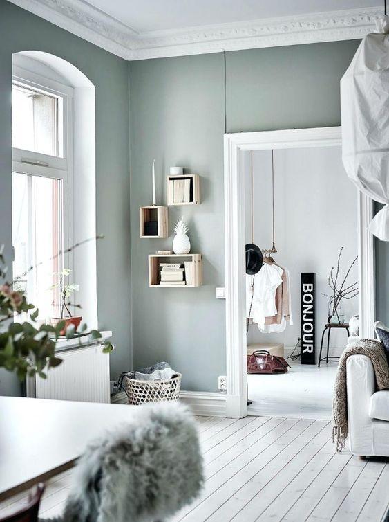 Vert gris : 23 façons de l'adopter dans votre intérieur