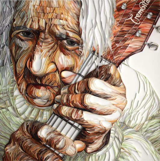Incredibly fabulous paper art!  Guitar---Yulia-Brodskaya