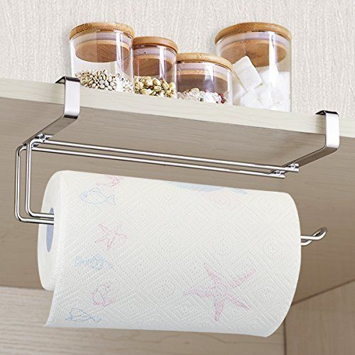 Amazon Com Pano Stainless Steel Kitchen Paper Hanger Sink Roll Towel Holder Hanger Organizer Rack Kitchen Dinin Paper Towel Holder Hanger Rack Towel Holder