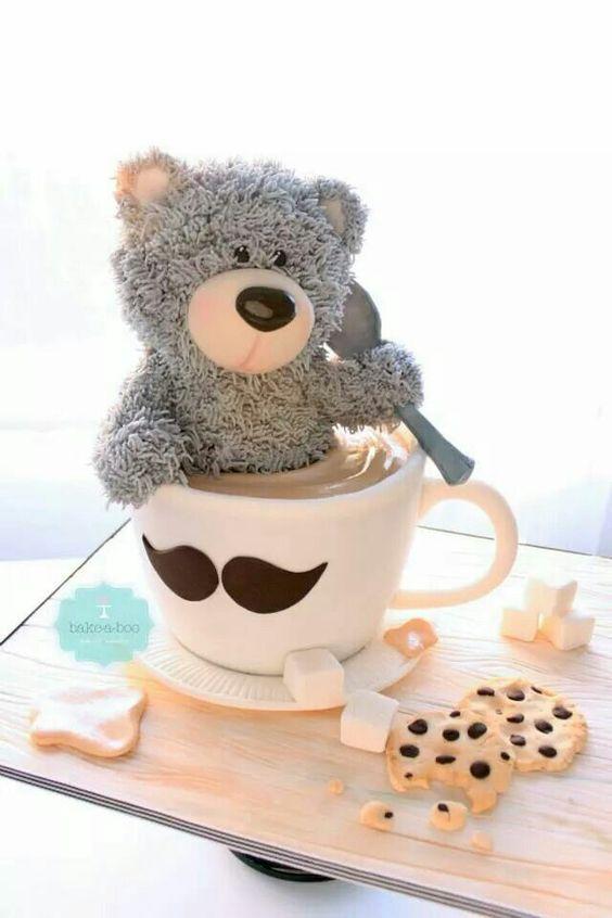 teddy bear cake... Omg so cute