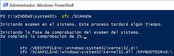 Comprobador de recursos de Windows 10