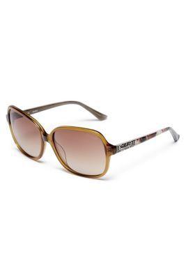 Leigh Square Printed Sunglasses | GUESS.com