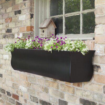Winston Porter Kalf Self Watering Plastic Window Box Planter Window Planter Boxes Rectangular Planters Window Box
