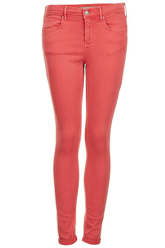 MOTO Red Leigh Jeans - Topshop
