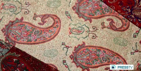 Iran Termeh textiles handicraf پارچه هاي ترمه بافت ايران