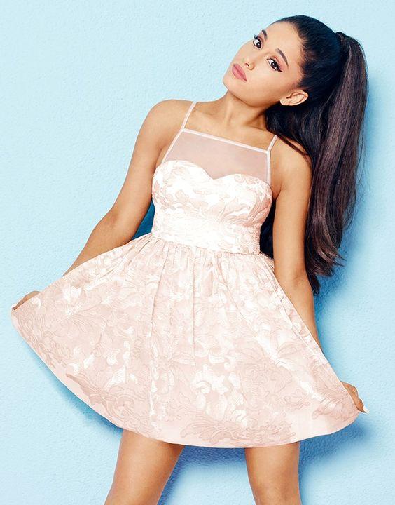 Ariana Grande For Lipsy Organza Prom Dress
