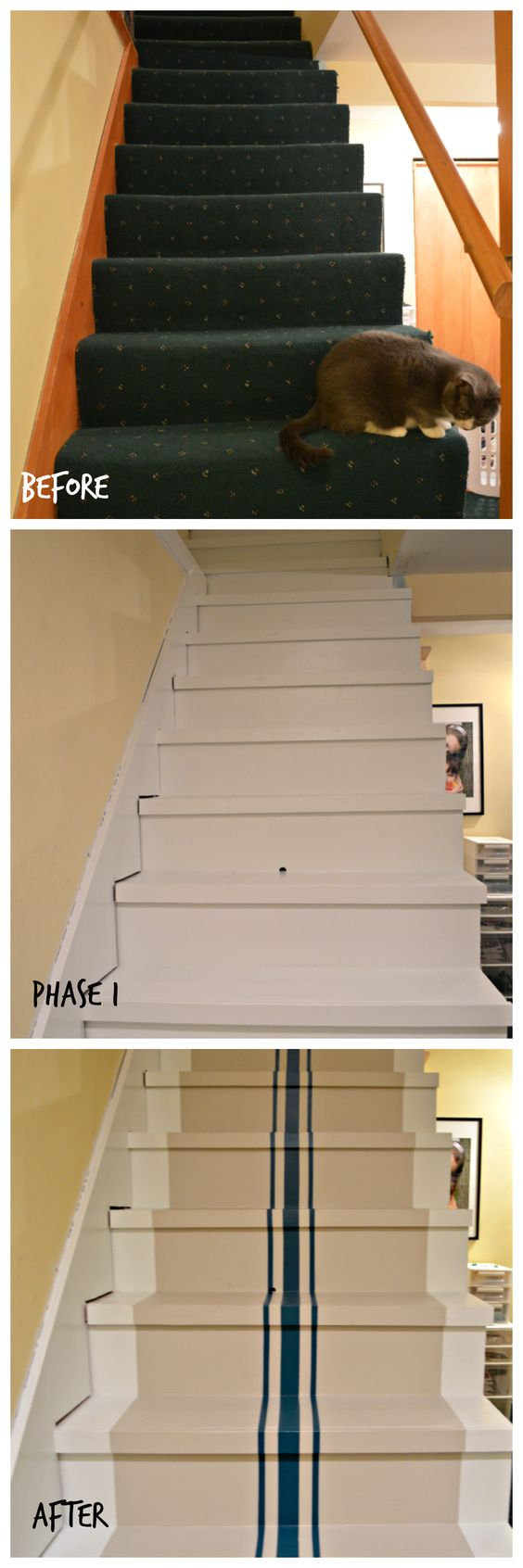 Painting Stripes On Stairs Stairs Remodel Home