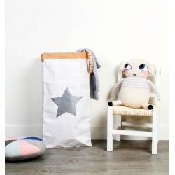 Paper bag étoile grise