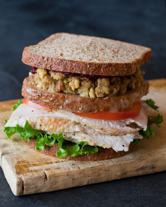 Thanksgiving Turkey Sandwich….with a MOIST MAKER. Remember that from Friends? This makes my mouth water!
