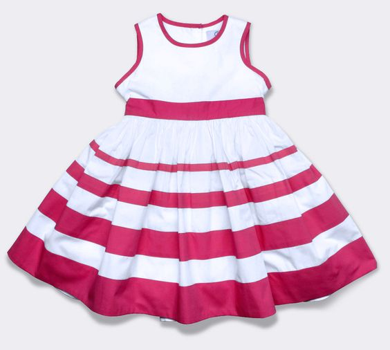 dress with multistripe, magenta (baby)