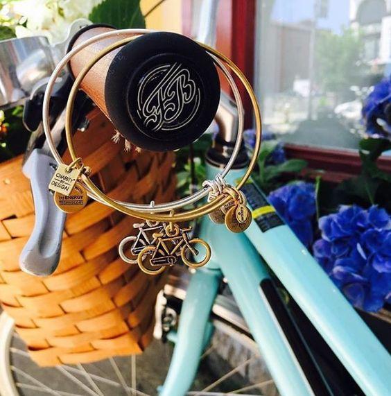 ALEX AND ANI Bike Charm Bangle | Wellness • Movement • Spirit | ALEX AND ANI CHARITY BY DESIGN Pan-Mass Challenge