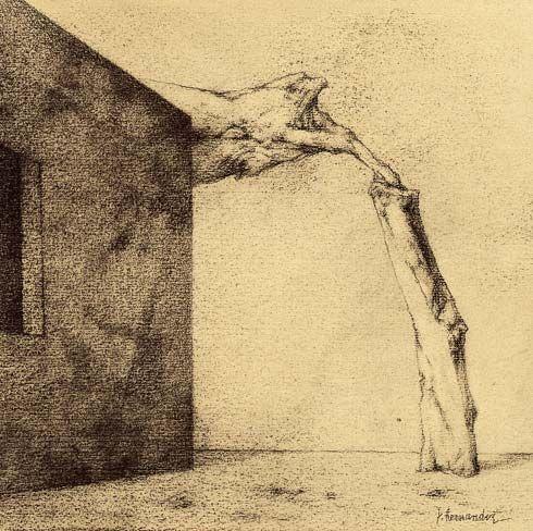 El sueño anclado (2003) Dibujo 17,5 x 17,5 Cm.