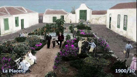 Puerto de la Cruz 1900 ,Rafa Afonso un toque de color.