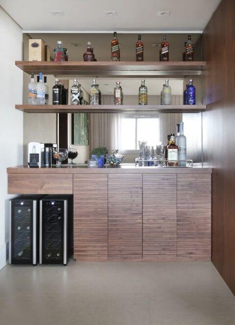 Barzinho Para Sala Preto Moderno E Minimalista Projetos De Bar