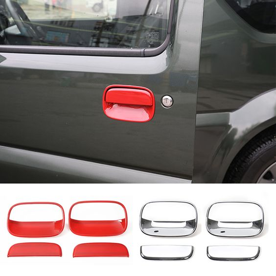 Find More Stickers Information about 2016 New Arrivals Chrome/Red ABS Car Door Handle Replacement Cover Trim for Suzuki Jimny,High Quality door net,China door lock Suppliers, Cheap door lock and key from Mopai Auto Accessories on Aliexpress.com