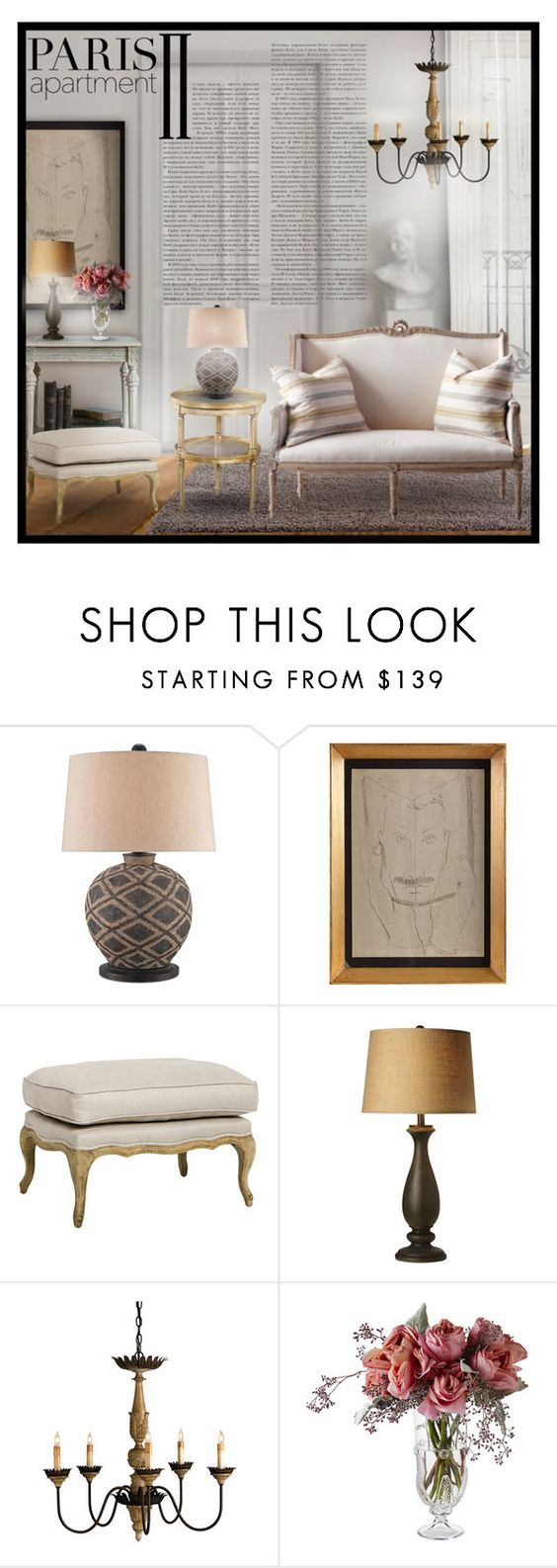 """""""Paris Apartment #4"""" by sally-simpson ❤ liked on Polyvore featuring interior, interiors, interior design, home, home decor, interior decorating, Theodore Alexander, Fornasetti, Juliska and parisapartment"""
