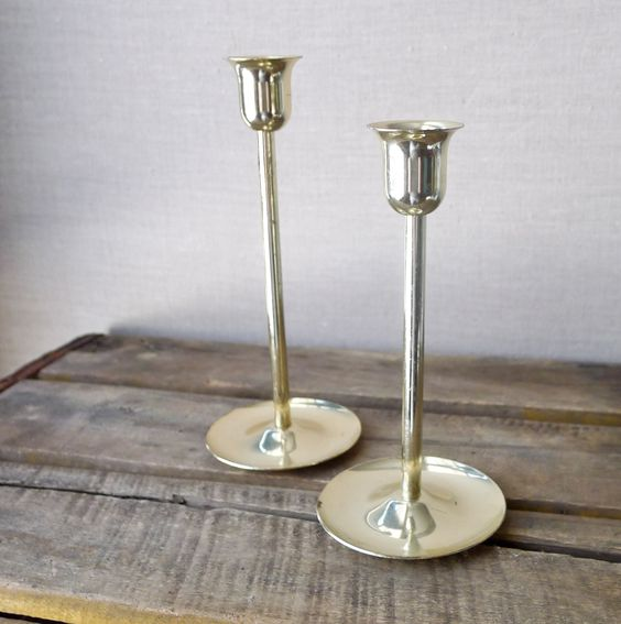 vintage brass candle stick holders - set of two. via Etsy.