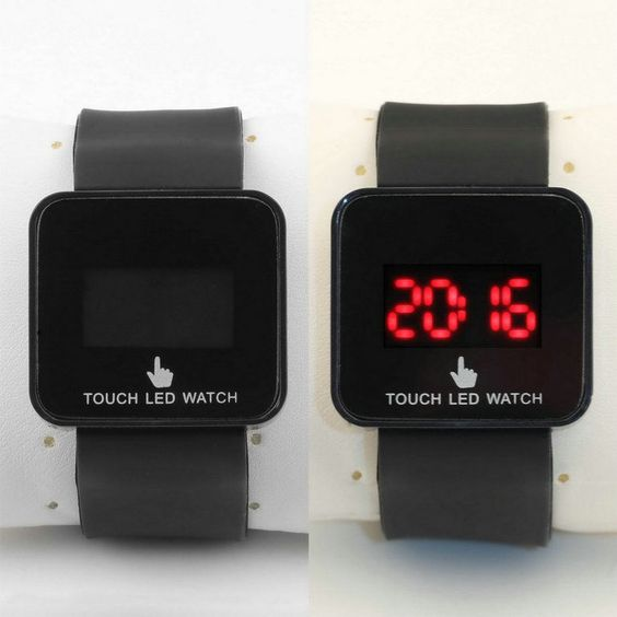 Colorful Led Digital Touch Screen Silicone Date Time Unisex Sport Wrist Watch Be