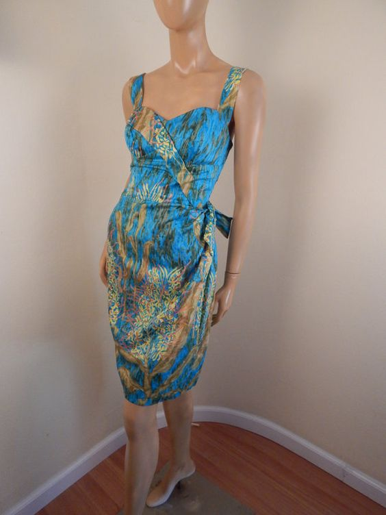 Der hawaiian Shopbeschriften Appx Womens 6-8 Baumwolle Büste von max 38 Taille 28-29 sehr intakt shirring auf der Rückseite mit Reißverschluss kam