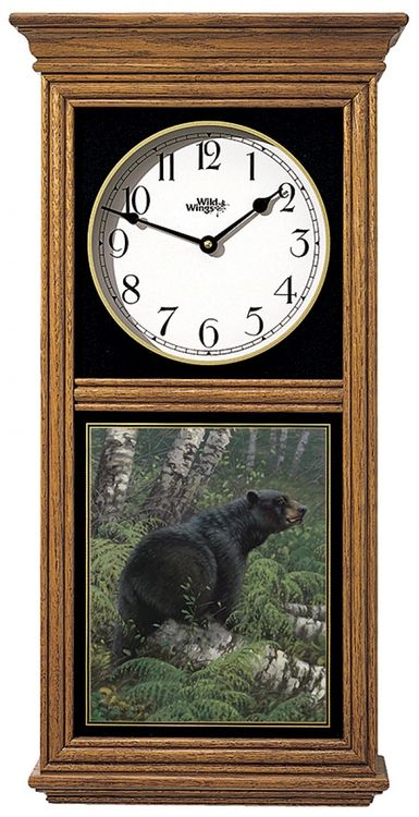 Black Bear Regulator Clock