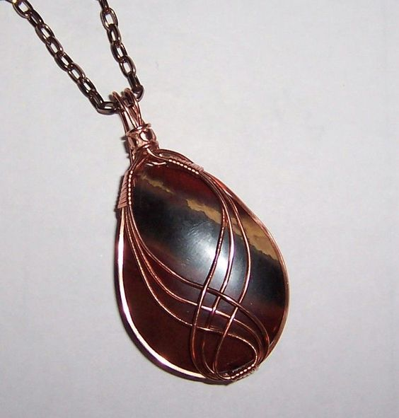 Beautiful Copper Wire Wrapped Tear Shaped, Multi Colored Stone ...