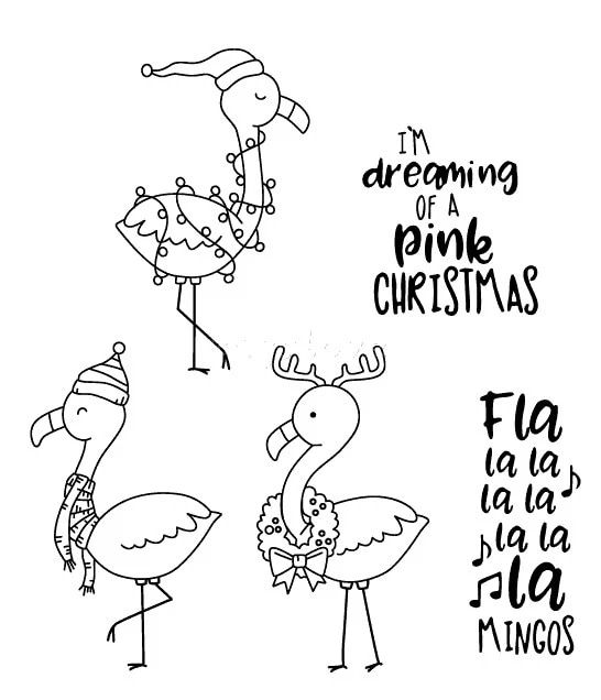Paint by Line Flamingo with Antlers Unfinished Wooden Craft