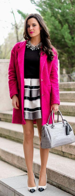 Abrigo rosa fiusha
