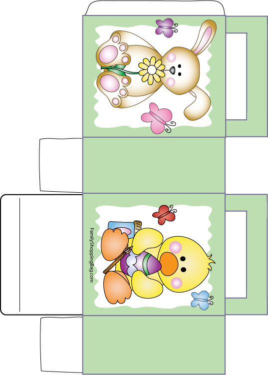 Image detail for -Easter Treat Bag, Easter, Favor Box - Free Printable Ideas from Family ...:
