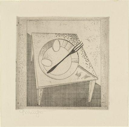 Georg Muche. On the Table (Auf dem Tisch) from Masters' Portfolio of the Staatliches Bauhaus (Meistermappe des Staatlichen Bauhauses). (1923)