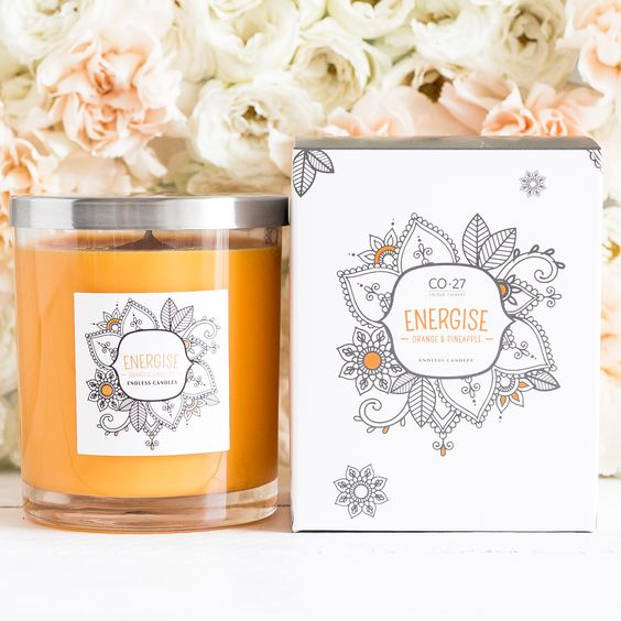 The refreshing and energising notes of Pineapple and Orange come together in this gorgeous, bright orange blend.