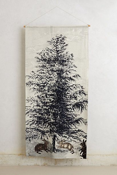 Northern Pine Wall Tapestry #anthropologie: Xmas Trees, Pine Walls, Christmas Tree Decorations, Wall Tapestries, Christmas Trees