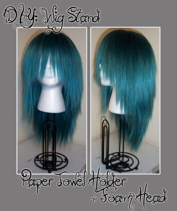 Diy Wig Stand 4 Dollar Paper Towel Holder From Target