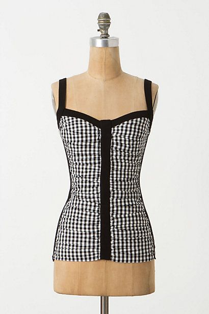 Spliced Checkers Tank - Anthropologie
